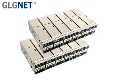 100G Ethernet SFP Cage Connector 2x6 پشته چهارگانه فرم کوچک - Factor Pluggable